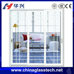 Australia standard tempered/toughed/laminated glass powder coated white/black color aluminum profile sliding door system