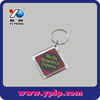 Key Chain Paper Insert Square,Claer Acrylic Photo Frame Insert Keychain