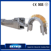 Skywin High Quality Gas Oven Type Automatic Wafer Biscuit Production line