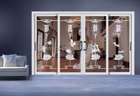 2015 Free Customize Ce Approved New Wall Mounted Sliding Doors