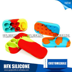 High quality 3ml silicone pencil jars/ silicone bho container/ silicone bho wax and oil container