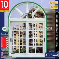 thermal break heat insulated Aluminium arched top sliding window
