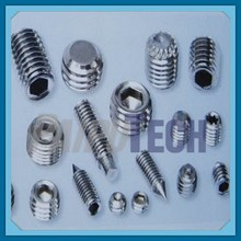 DIN 551 Slotted Set Screws with Flat Point