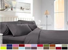 microfiber bed sheet sets/solid color