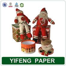 Santa Claus christmas gift box hot sale custom paper christmas gift packaging box