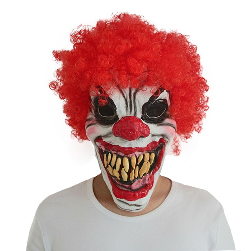 Как сделать страшную маску своими руками клоуна 50