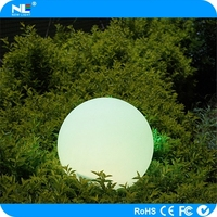 Alibaba express glowing LED round ball outdoor light / rechargeable plastic LED decorative ball