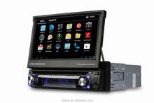 "7"" Single 1 Din Car DVD GPS Player With Digital TV DVB-T 3G WiFi MIC RDS Bluetooth USB SD FM Car Central Multimedia Radio Stereo"
