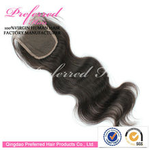 China Manufacturer Large Stock 16 Inch High Quality Indian Hair Lace Closure