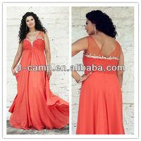 OC-2177 Elegant sheer straps sweetheart neckline big size women evening dress plus size evening gowns for big women
