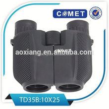 Best selling 10x25 porro binoculars,enlarged eyepieces and twist-up eyecups