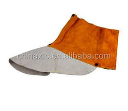Welding special leather foot cover / splash labor insulation fire retardant protective equipment