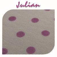 pink dot on white mesh Spandex nylon 4070 Elastic kids shoes fabric