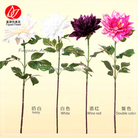 141040 Popular best selling latest fabric artificial flowers dahlia for sale on canton fair