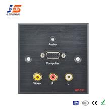 JS-WP101 With AV,VGA,Audio Multimedia Wall Plate Socket For Office Room
