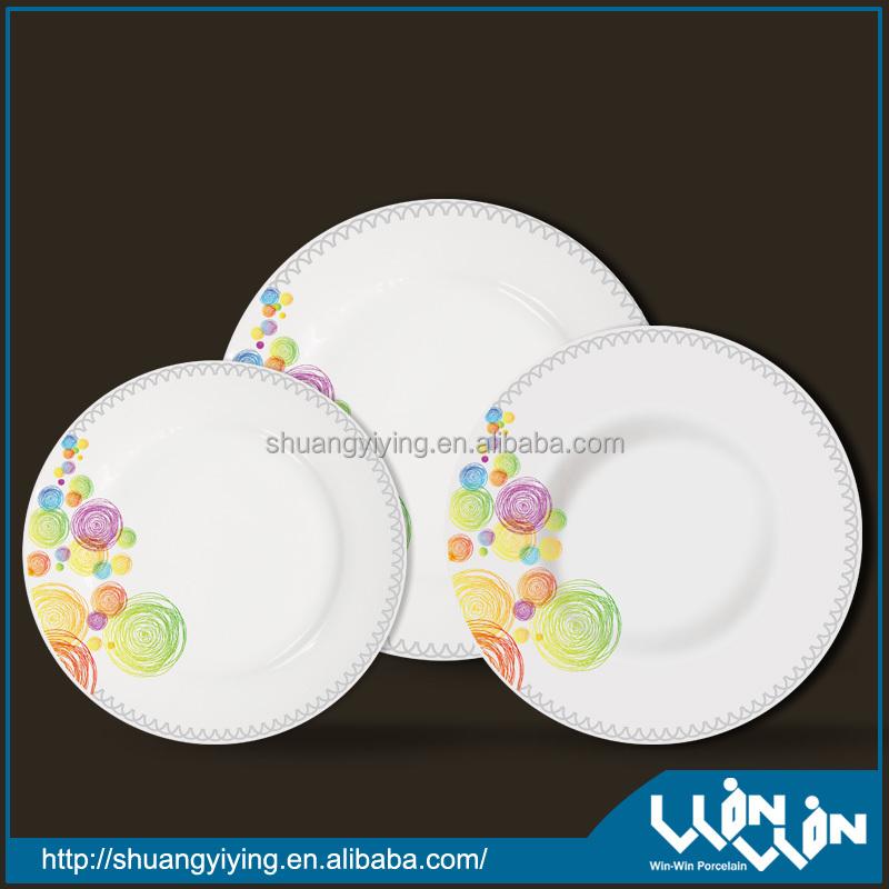 porcelain dinner plate in color design