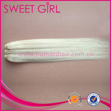 18 inches blonde color #60 no any yellow human hair extensions