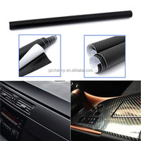 Best Promotion Black 127x50cm 3D Textured Air Drain Carbon Fibre Vinyl Film Car Bike Motorcycle Sheet Wrap Sticker Decoration
