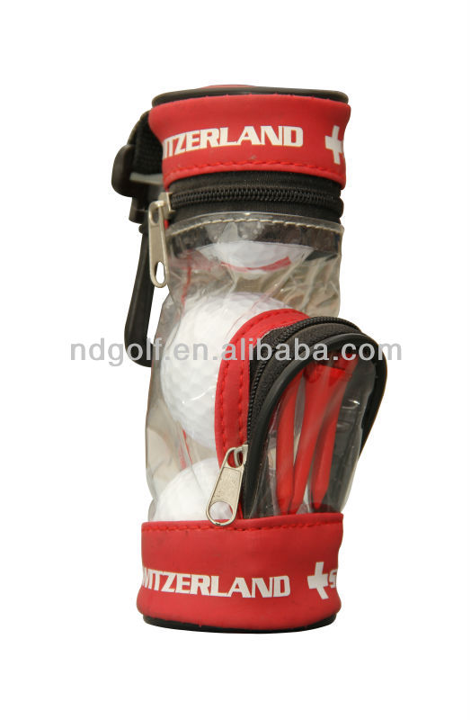Mini golf bag with golf ball ---Custom made Golf Ball &Golf gift set
