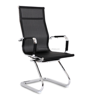 Replica Charles High Back Mesh Chair - Black Mesh