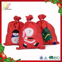 2015 China High Quality Wholesale Children Flet Christmas Gift Bag For Candy