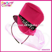 Mini Pink Felt Bride To Be Top Hat