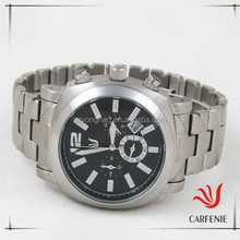 popular japan movt stainless steel water resistant men watch