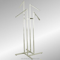 Adjustable Chrome 4 Way Clothing Display Stand