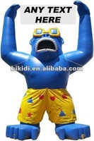 Inflatable Gorilla with Banner and shorts K2058
