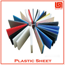 Hot sale white hard plastic sheet corrugated ISO cerfified company