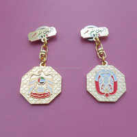 The National Celebration Gifts - Honour of UAE Founding Year 1971 Stamped Sides Hanging Falcon Badge