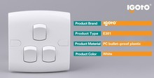 stylish electrical best quality oem professional/direct manufactures British Standard 3gang 1 way switch