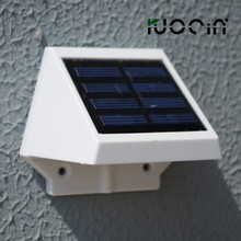 Solaire 4 LED capteur escalier extérieure jardin Wall Path lumière