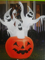 Inflatable Halloween Decoration Pumpkin with White Ghost Customerized