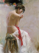 Nude oil painting women picture beautiful girl photo painting by artist