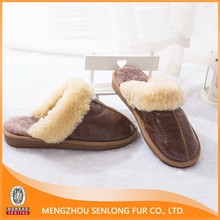 Glossy Hide Sheep Fur Double Face Stocklot Slippers