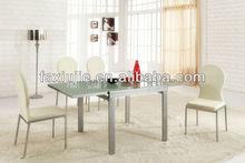(L833) White Extending Dining Table
