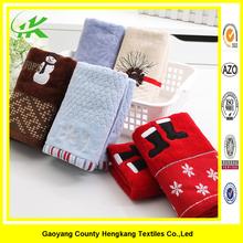 Luxury Sof emboridery China Christmas towel sets Holiday gifts