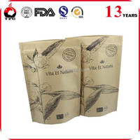 stand up coffee brown kraft paper bags