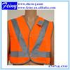 en1150 polyester promotional orange button hi vis clothing for kids