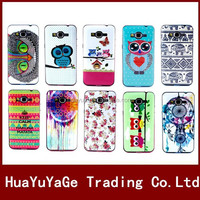 Colorful Flower Owl Pattern TPU+PLastic Soft phone cases cover for Samsung Galaxy Grand Prime G530