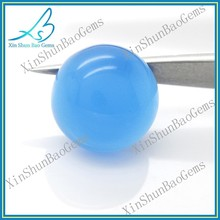 Colorful synthetic gems hot sale round glass cabochons