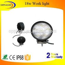 Protable work light 18w 1350lumens working light round 3w/pc automobile led working lamp jeep atv utv off road
