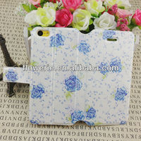 FL2546 2013 Guangzhou hot selling stand flower pattern wallet leather case witn credit card slot for iphone 5c
