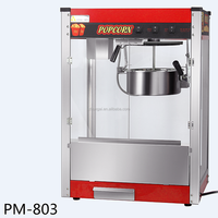 High production and various flavours Stainless Steel pot popcorn machine