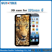 3d mobile phone cover, 3D silicon animal case for iphone 5 / 6