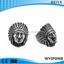 Wholesale 2015 stainless steel ring Indian head csting ring