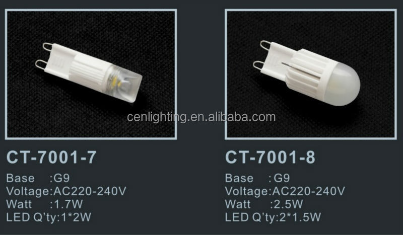 High Lumen ceramic 2W LED G9 Lamp