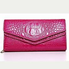Made in italy wholesale bag women handbag purse crocodile PU leather wallet chain shoulder bag W6040