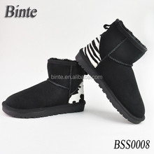 High Quality and Warm snow boot for women Leather winter boots shoes